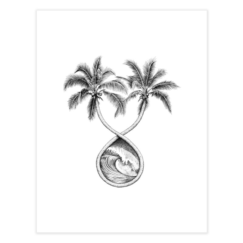 Wavy Palms Home Fine Art Print by Habby's Art Shop