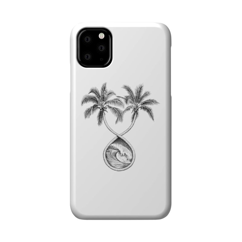 Wavy Palms Accessories Phone Case by Habby's Art Shop