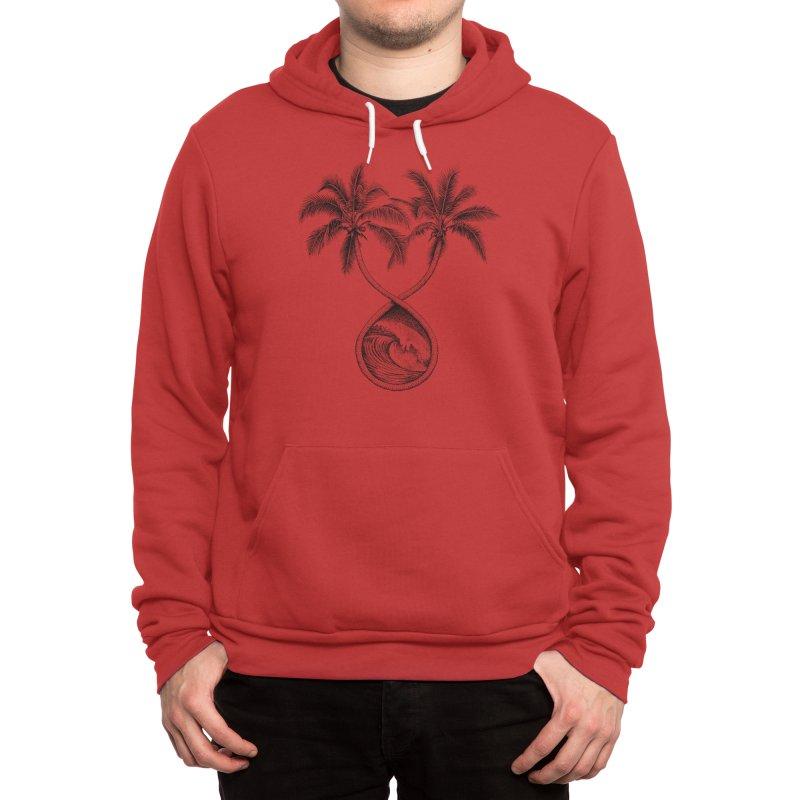 Wavy Palms Men's Pullover Hoody by Habby's Art Shop