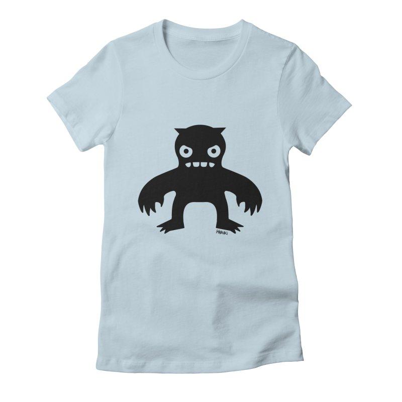 Habuki Monster Women's Fitted T-Shirt by Habuki Artist Shop