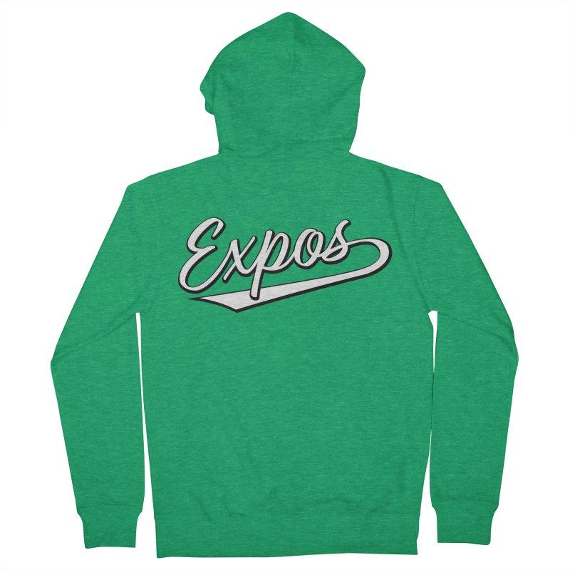 Elevation Expos Swish Logo #1 Men's French Terry Zip-Up Hoody by Hadeda Creative's Artist Shop