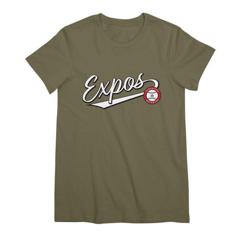 Elevation Expos Swish Logo #2 Women's Premium T-Shirt by Hadeda Creative's Artist Shop