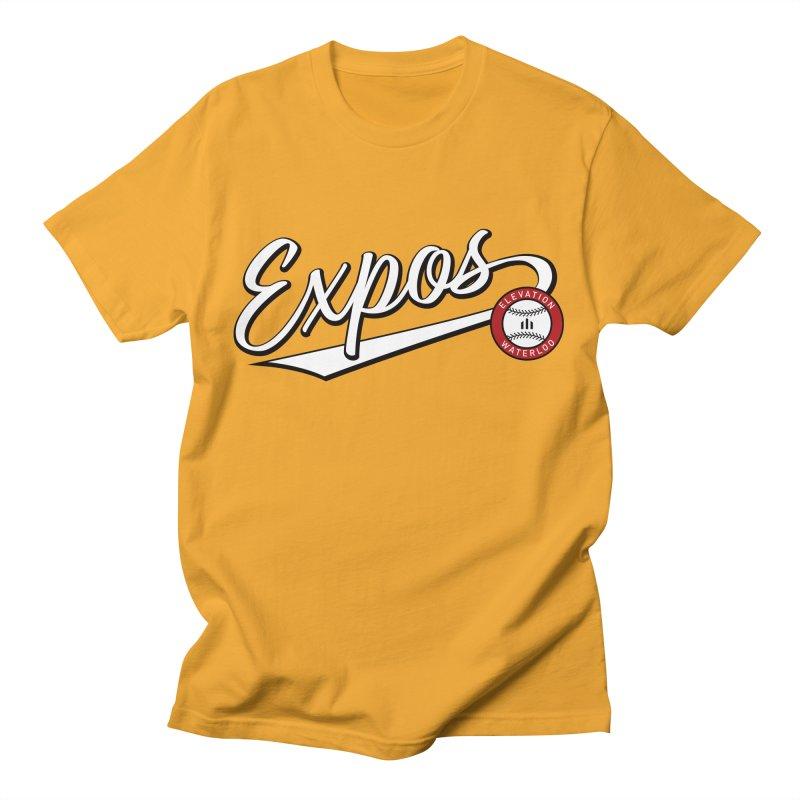 Elevation Expos Swish Logo #2 Men's T-Shirt by Hadeda Creative's Artist Shop