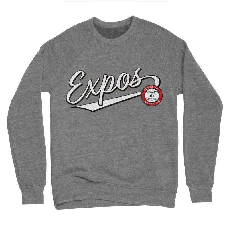 Elevation Expos Swish Logo #2 Men's Sponge Fleece Sweatshirt by Hadeda Creative's Artist Shop