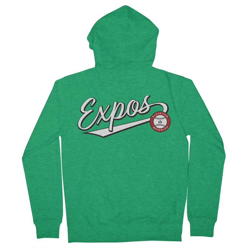 Elevation Expos Swish Logo #2 Men's Zip-Up Hoody by Hadeda Creative's Artist Shop
