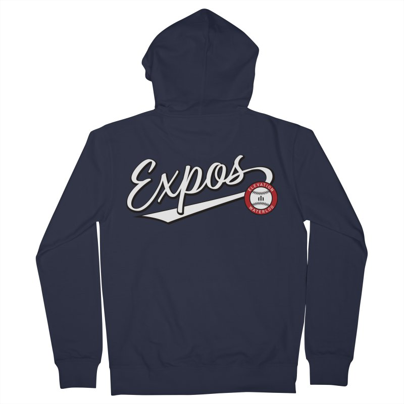 Elevation Expos Swish Logo #2 Women's French Terry Zip-Up Hoody by Hadeda Creative's Artist Shop