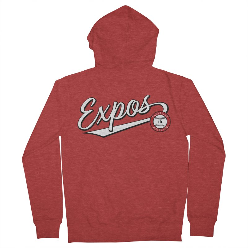 Elevation Expos Swish Logo #2 Men's French Terry Zip-Up Hoody by Hadeda Creative's Artist Shop