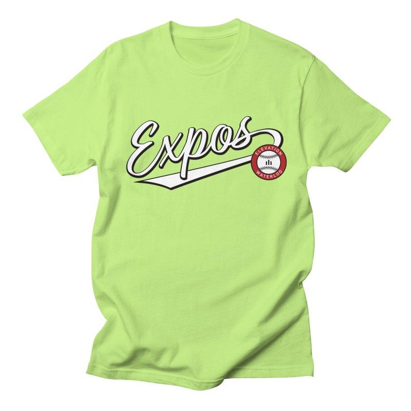 Elevation Expos Swish Logo #2 Men's Regular T-Shirt by Hadeda Creative's Artist Shop