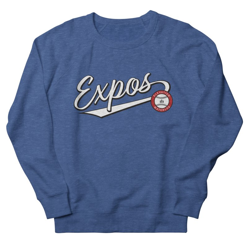 Elevation Expos Swish Logo #2 Men's French Terry Sweatshirt by Hadeda Creative's Artist Shop