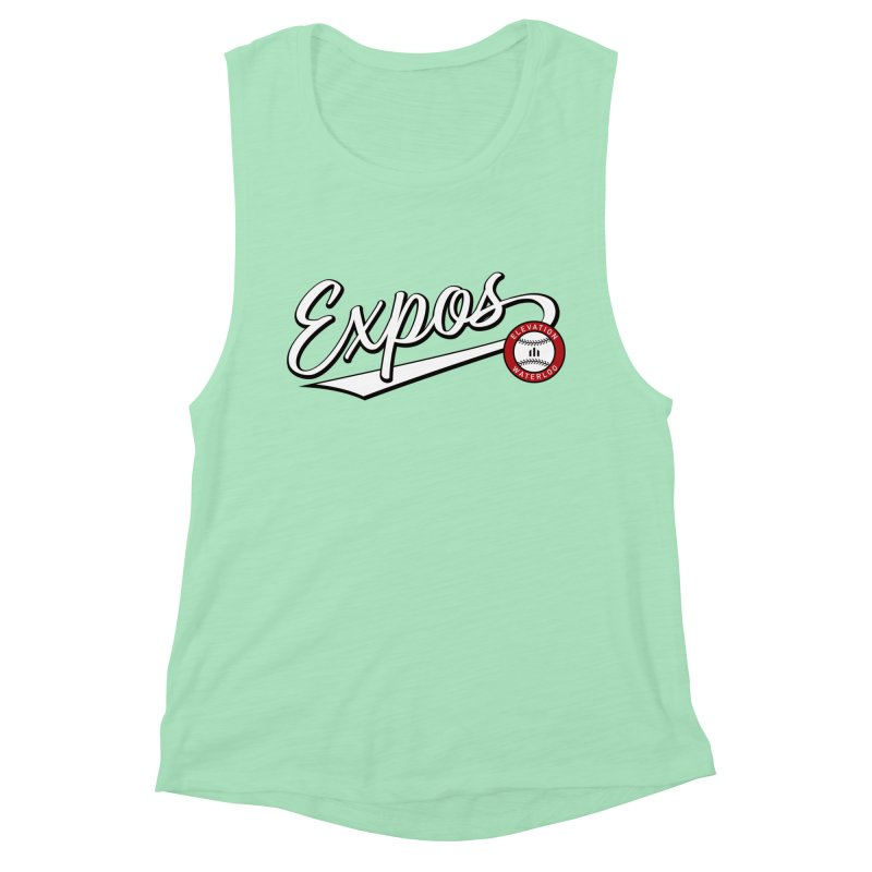 Elevation Expos Swish Logo #2 Women's Muscle Tank by Hadeda Creative's Artist Shop