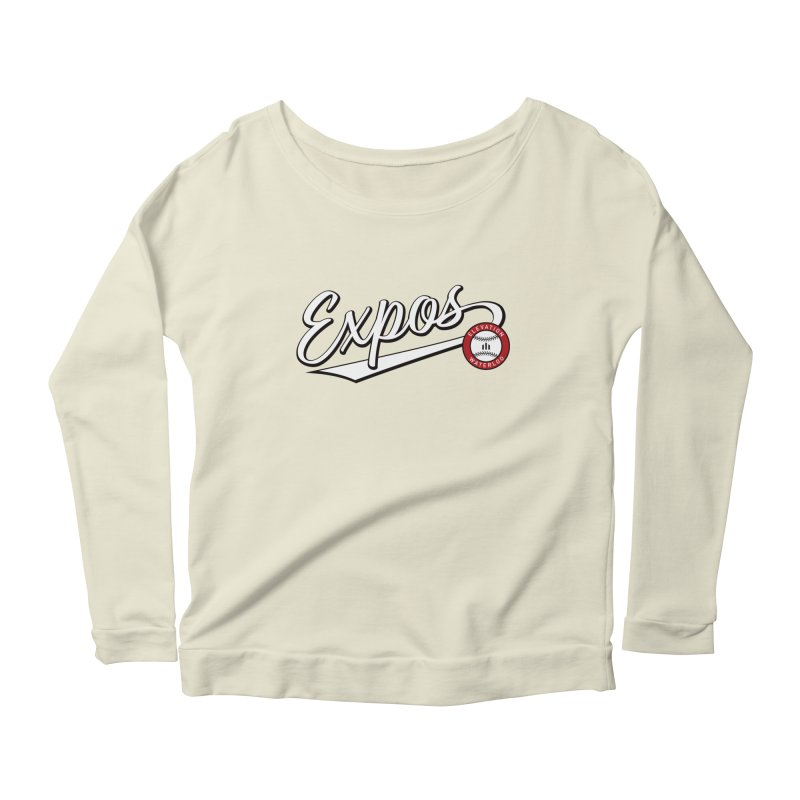 Elevation Expos Swish Logo #2 Women's Scoop Neck Longsleeve T-Shirt by Hadeda Creative's Artist Shop
