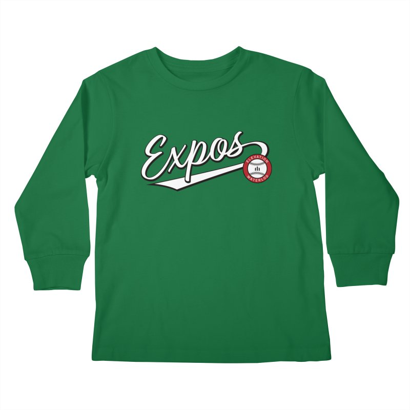 Elevation Expos Swish Logo #2 Kids Longsleeve T-Shirt by Hadeda Creative's Artist Shop