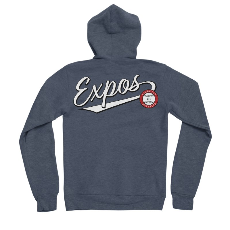 Elevation Expos Swish Logo #2 Men's Sponge Fleece Zip-Up Hoody by Hadeda Creative's Artist Shop