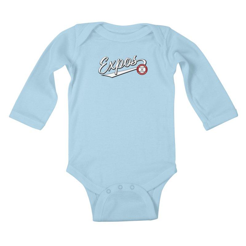 Elevation Expos Swish Logo #2 Kids Baby Longsleeve Bodysuit by Hadeda Creative's Artist Shop