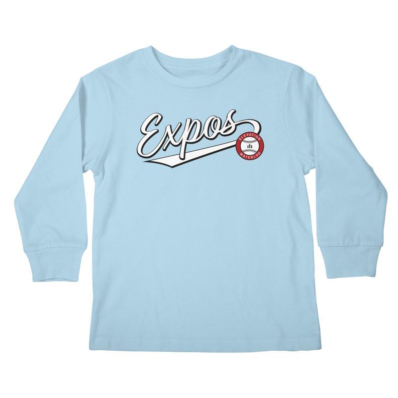 Elevation Expos Swish Logo #2 Kids Longsleeve T-Shirt by Hadeda Creative's Artist Shop