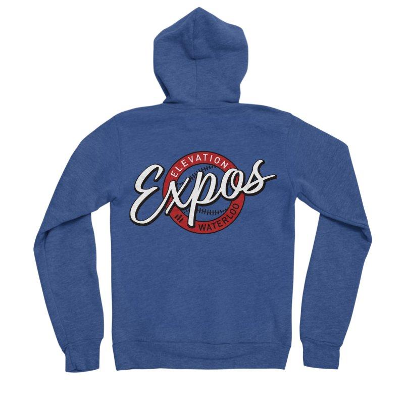 Elevation Expos Supporters Alternate Logo Women's Sponge Fleece Zip-Up Hoody by Hadeda Creative's Artist Shop