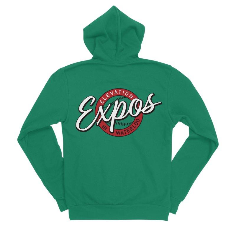 Elevation Expos Supporters Alternate Logo Men's Sponge Fleece Zip-Up Hoody by Hadeda Creative's Artist Shop