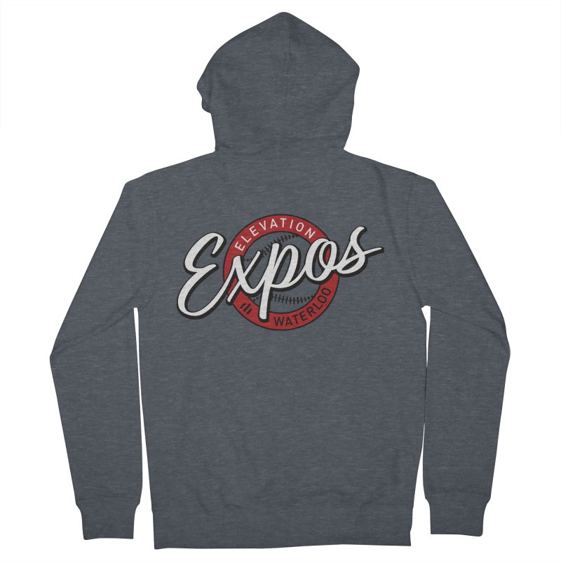 Elevation Expos Supporters Alternate Logo Women's French Terry Zip-Up Hoody by Hadeda Creative's Artist Shop