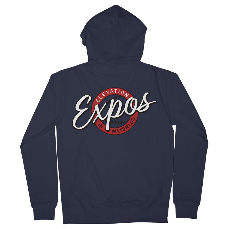 Elevation Expos Supporters Alternate Logo Men's French Terry Zip-Up Hoody by Hadeda Creative's Artist Shop