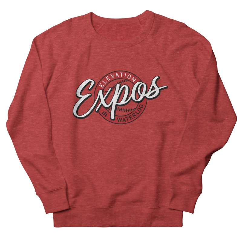 Elevation Expos Supporters Alternate Logo Men's French Terry Sweatshirt by Hadeda Creative's Artist Shop