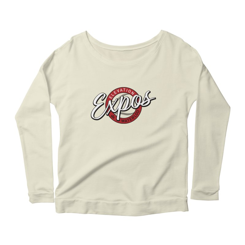 Elevation Expos Supporters Alternate Logo Women's Scoop Neck Longsleeve T-Shirt by Hadeda Creative's Artist Shop