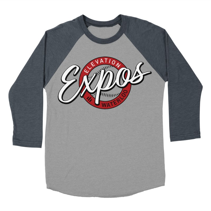 Elevation Expos Supporters Alternate Logo Men's Baseball Triblend Longsleeve T-Shirt by Hadeda Creative's Artist Shop