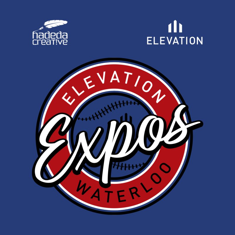 Expos Shirt with Elevation & Hadeda Creative Logos. Men's T-Shirt by Hadeda Creative's Artist Shop