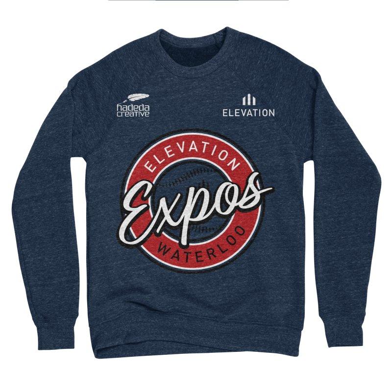 Expos Shirt with Elevation & Hadeda Creative Logos. Women's Sponge Fleece Sweatshirt by Hadeda Creative's Artist Shop