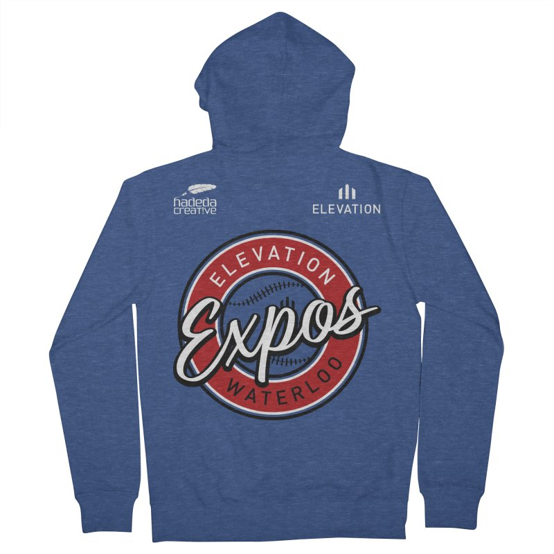 Expos Shirt with Elevation & Hadeda Creative Logos. Women's French Terry Zip-Up Hoody by Hadeda Creative's Artist Shop