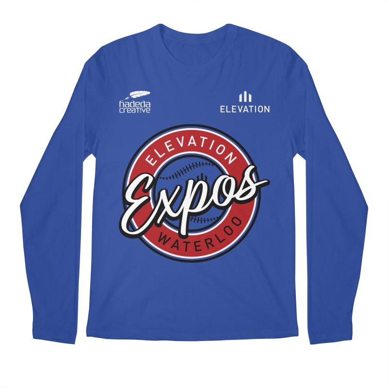 Expos Shirt with Elevation & Hadeda Creative Logos. Men's Regular Longsleeve T-Shirt by Hadeda Creative's Artist Shop