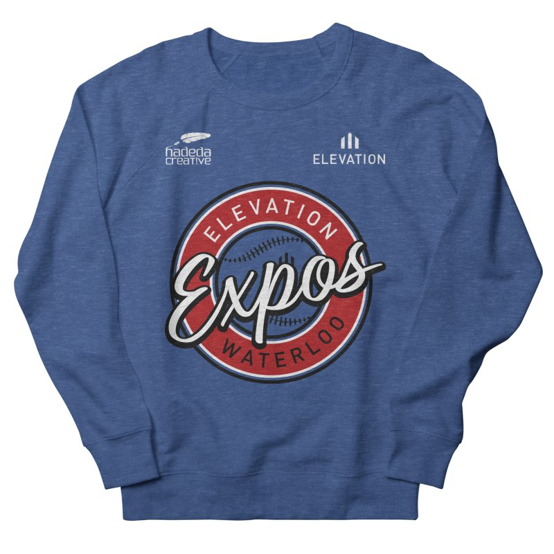 Expos Shirt with Elevation & Hadeda Creative Logos. Men's French Terry Sweatshirt by Hadeda Creative's Artist Shop