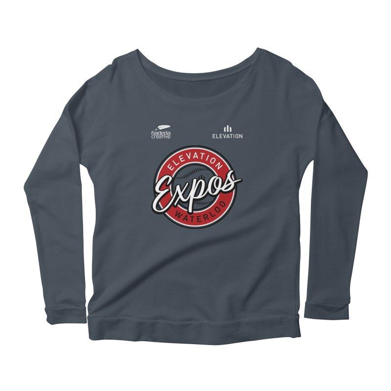 Expos Shirt with Elevation & Hadeda Creative Logos. Women's Longsleeve T-Shirt by Hadeda Creative's Artist Shop