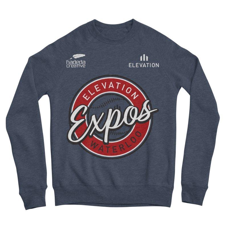Expos Shirt with Elevation & Hadeda Creative Logos. Men's Sponge Fleece Sweatshirt by Hadeda Creative's Artist Shop