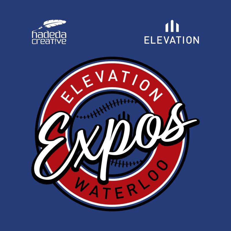 Expos Shirt with Elevation & Hadeda Creative Logos. Men's Sweatshirt by Hadeda Creative's Artist Shop
