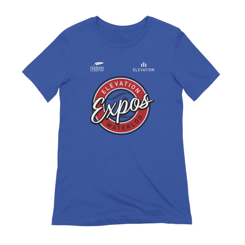 Expos Shirt with Elevation & Hadeda Creative Logos. Women's Extra Soft T-Shirt by Hadeda Creative's Artist Shop