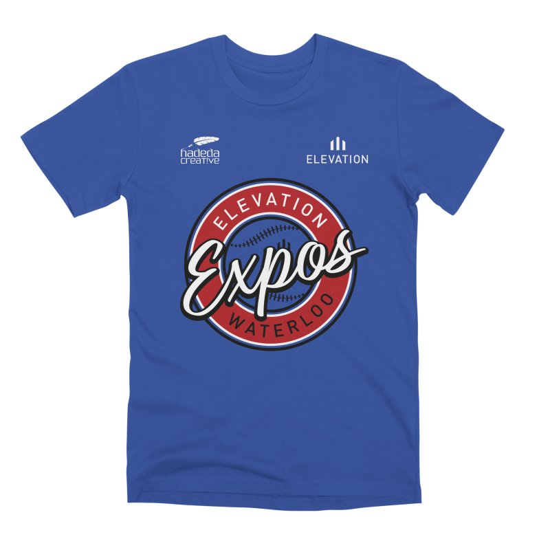 Expos Shirt with Elevation & Hadeda Creative Logos. Men's Premium T-Shirt by Hadeda Creative's Artist Shop