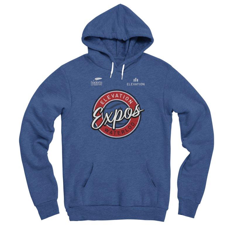 Expos Shirt with Elevation & Hadeda Creative Logos. Men's Pullover Hoody by Hadeda Creative's Artist Shop