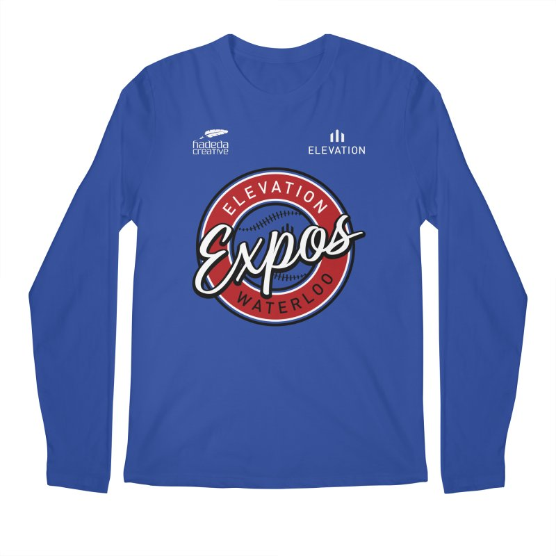 Expos Shirt with Elevation & Hadeda Creative Logos. Men's Regular Longsleeve T-Shirt by Hadeda Creative's Artist Shop