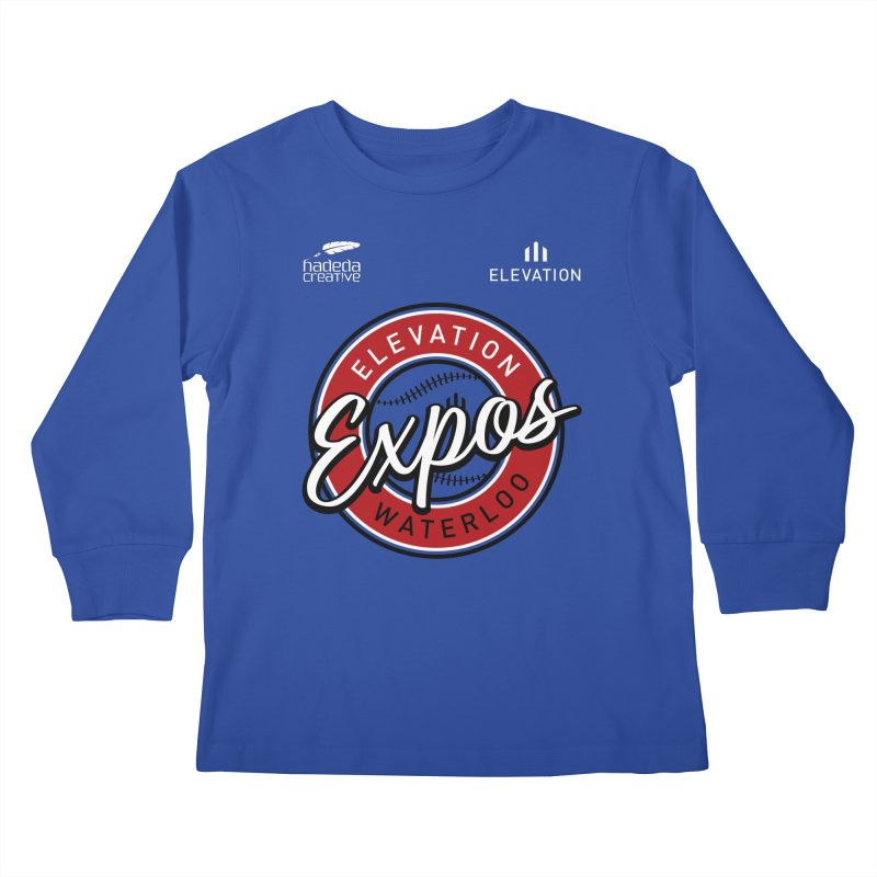 Expos Shirt with Elevation & Hadeda Creative Logos. Kids Longsleeve T-Shirt by Hadeda Creative's Artist Shop