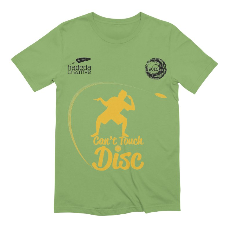 Can't Touch Disc Men's Extra Soft T-Shirt by Hadeda Creative's Artist Shop