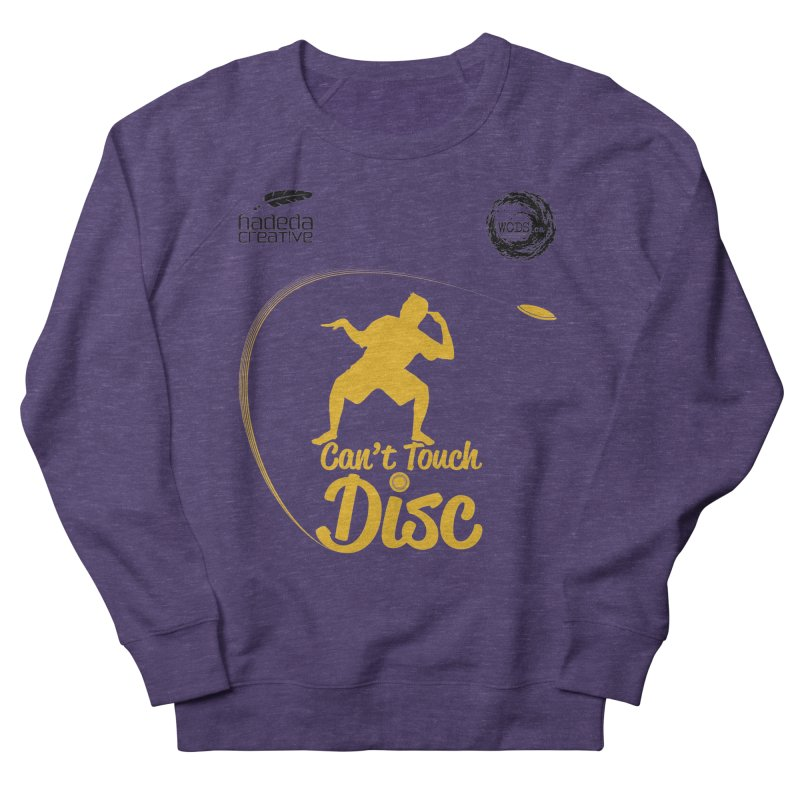 Can't Touch Disc Men's French Terry Sweatshirt by Hadeda Creative's Artist Shop