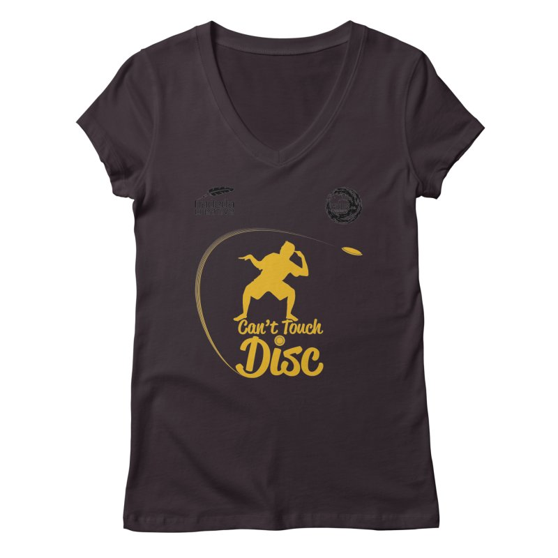 Can't Touch Disc Women's Regular V-Neck by Hadeda Creative's Artist Shop