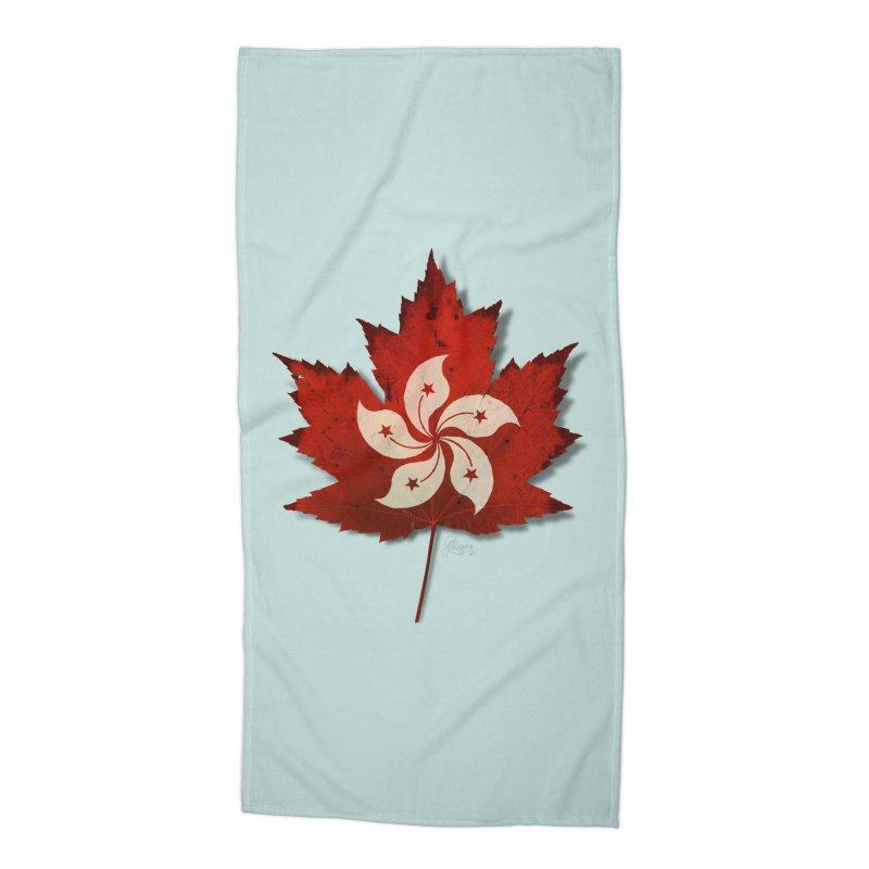 Hong Kong Maple Accessories Beach Towel by Hadeda Creative's Artist Shop