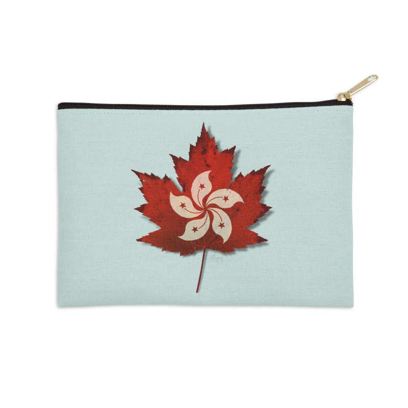 Hong Kong Maple Accessories Zip Pouch by Hadeda Creative's Artist Shop