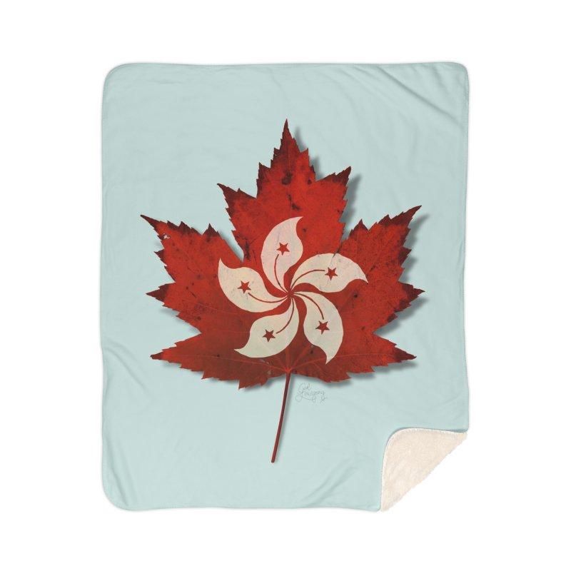 Hong Kong Maple Home Sherpa Blanket Blanket by Hadeda Creative's Artist Shop