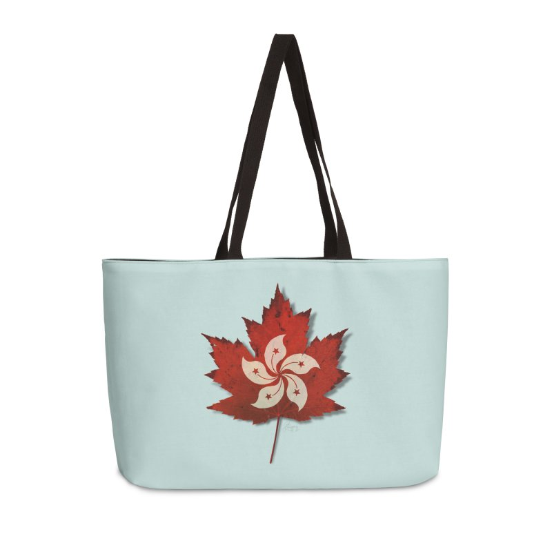 Hong Kong Maple Accessories Weekender Bag Bag by Hadeda Creative's Artist Shop