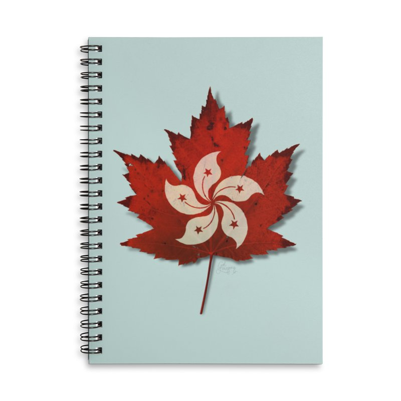 Hong Kong Maple Accessories Lined Spiral Notebook by Hadeda Creative's Artist Shop