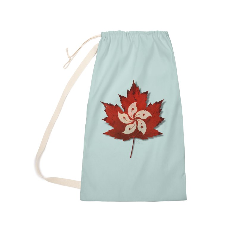 Hong Kong Maple Accessories Laundry Bag Bag by Hadeda Creative's Artist Shop
