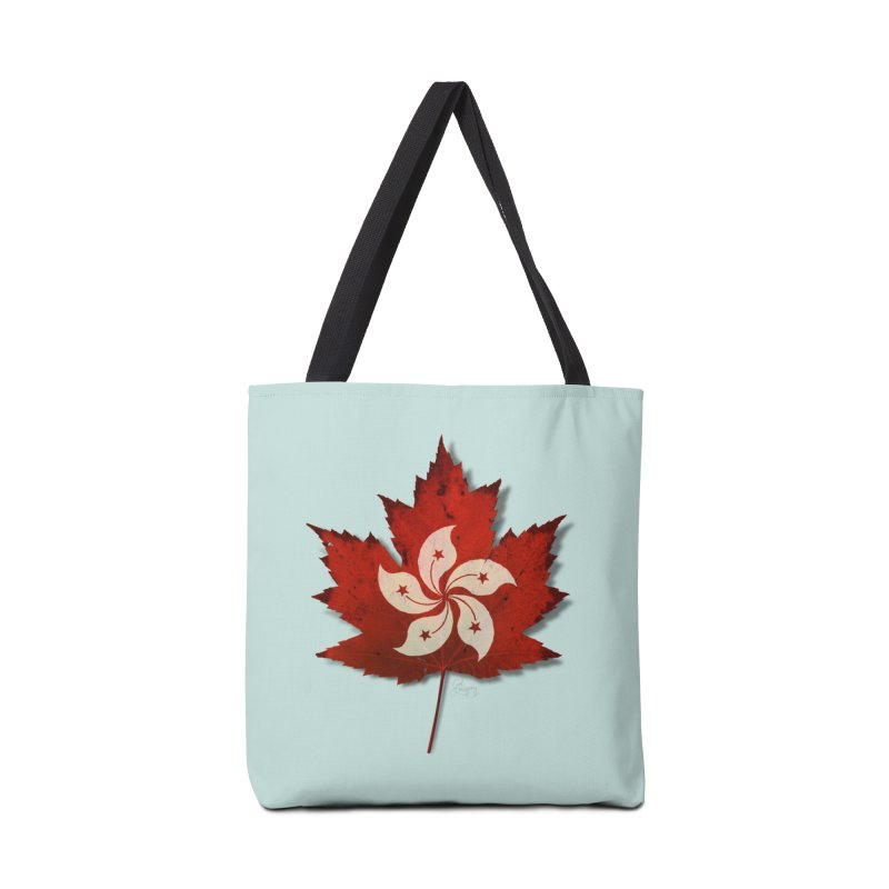 Hong Kong Maple Accessories Bag by Hadeda Creative's Artist Shop