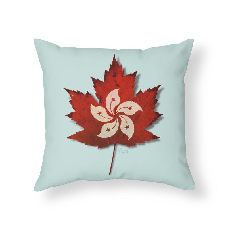 Hong Kong Maple Home Throw Pillow by Hadeda Creative's Artist Shop